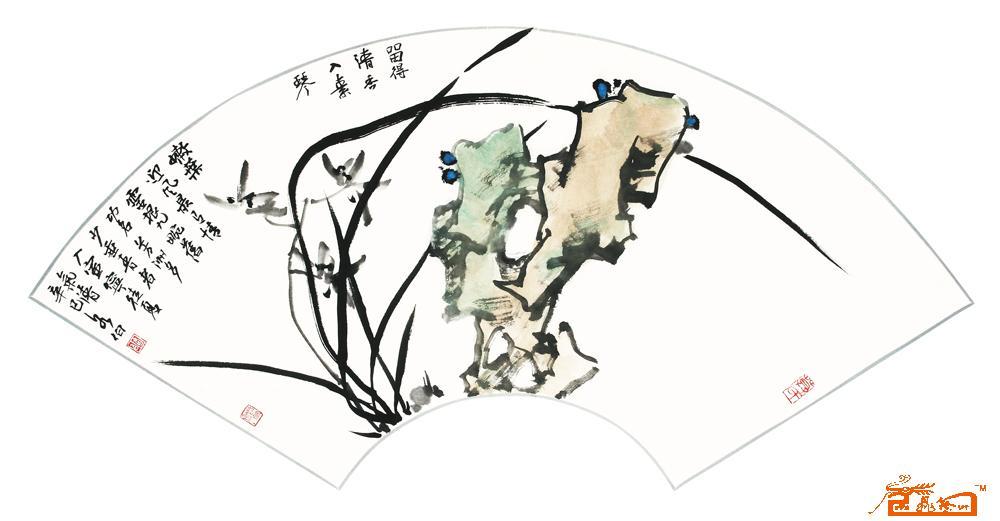 名家 莫各伯 国画 - 留得清香入素琴图片
